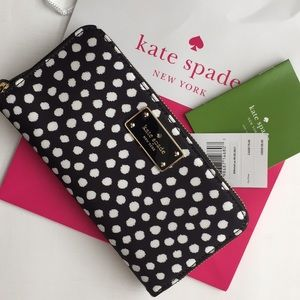Authentic Kate Spade Black and White wallet